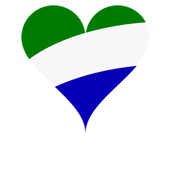 Heart, Love, Flag, Sierra Leone