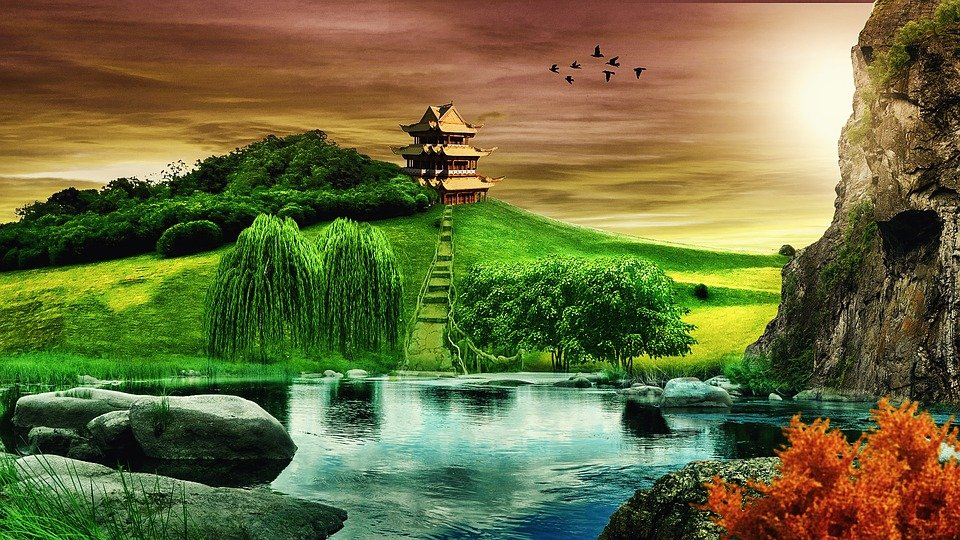 background landscape temple free photo on pixabay