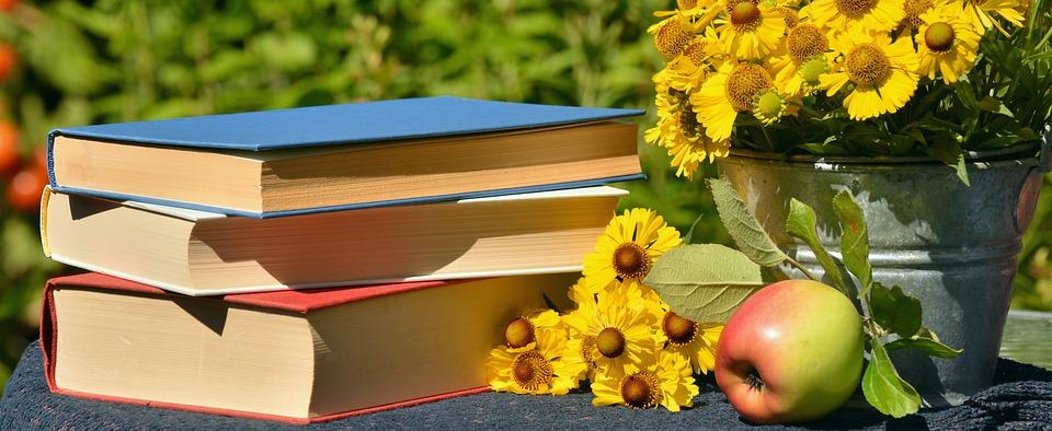 Boeken, Lezen, Tuin, Zon Brouwt, Apple, Literatuur