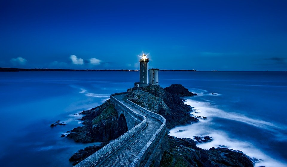 Plouzane, Lighthouse, France, Landmark, Sea, Ocean