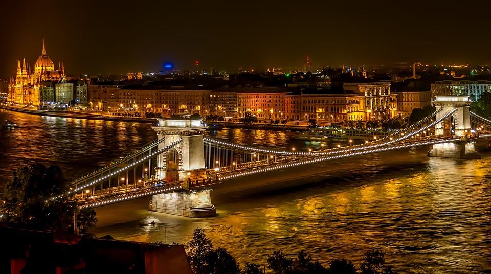 Szechenyi Chain Bridge, Hangbrug, Landmark, Historische