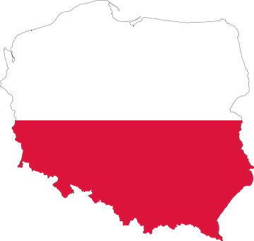 Poland, Country, Europe, Flag, Borders