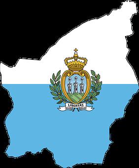 San Marino, Country, Europe, Flag