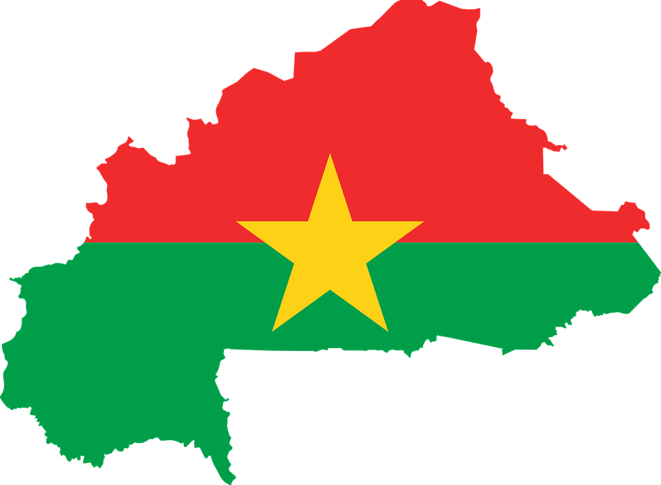Burkina Faso, Bandiera, Mappa, Geografia, Contorno