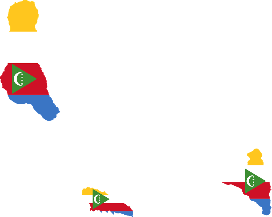 comoros flag map geography outline africa country
