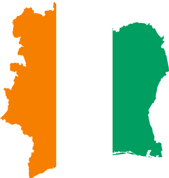 côte d ivoire flag map ivory free vector graphic on pixabay