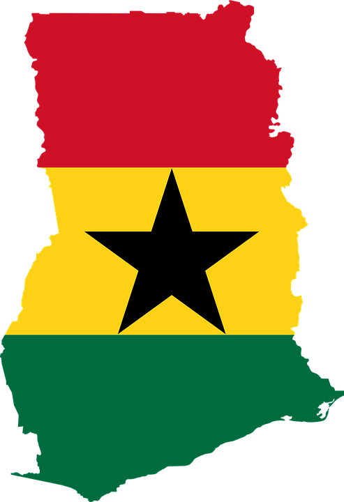 Free Vector Graphic Ghana Flag Map Geography Free Image On - Ghana map vector