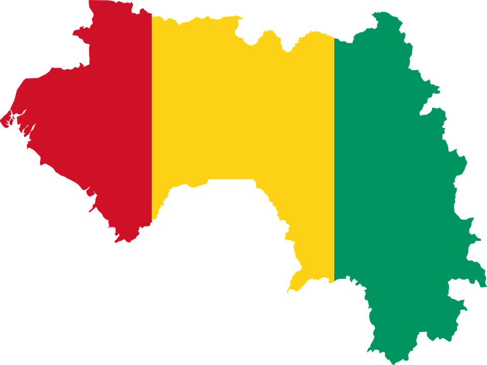 Afrika Karta Guinea.Guinea Flagg Karta Gratis Vektorgrafik Pa Pixabay