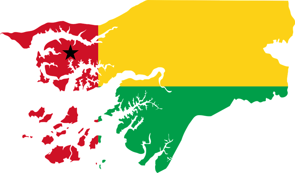 GuineaBissau Flag Map Free vector graphic on Pixabay