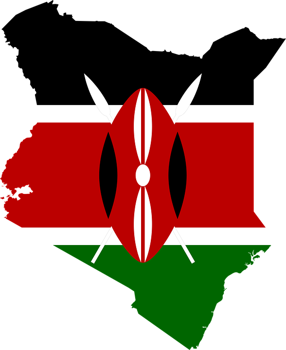 free vector graphic: kenya, flag, map, geography - free image on