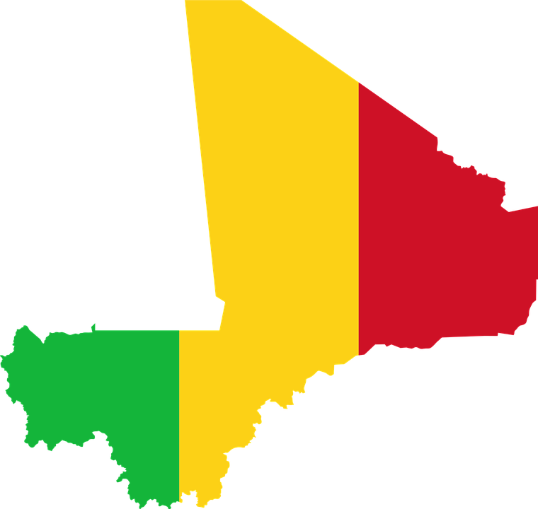 Mali Flag Map · Free vector graphic on Pixabay