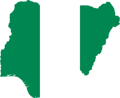 Nigeria Flag Map Geography Outline Africa