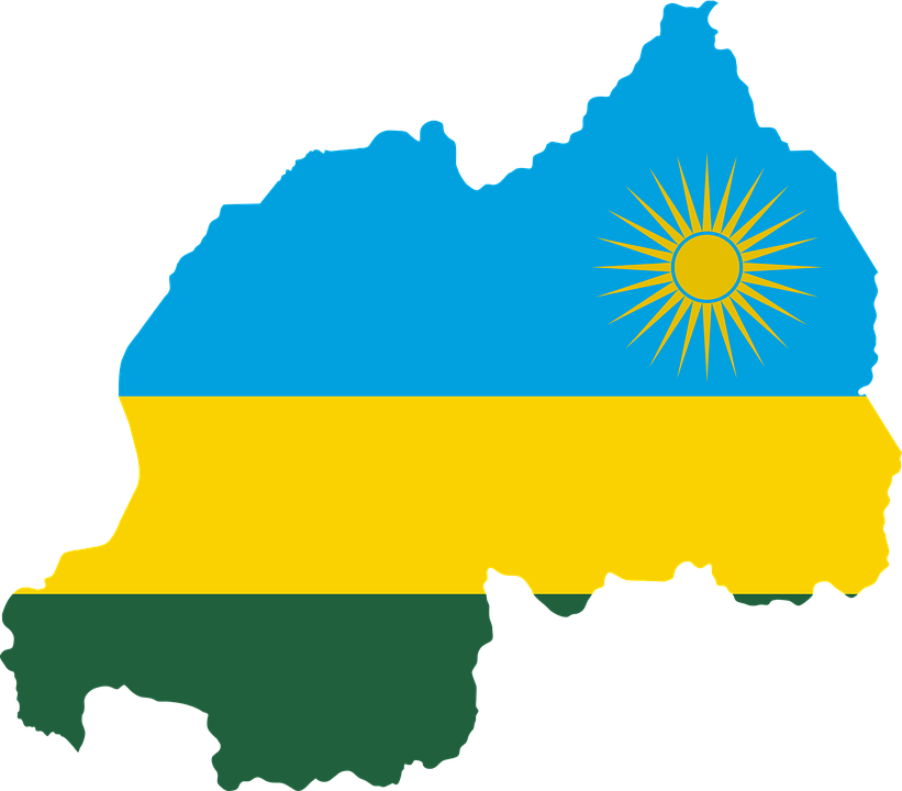 Rwanda, Flag, Map, Geography, Outline, Africa, Country