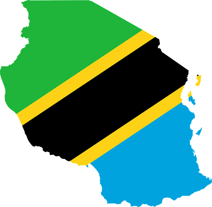 Tanzania, Flag, Map, Geography, Outline, Africa