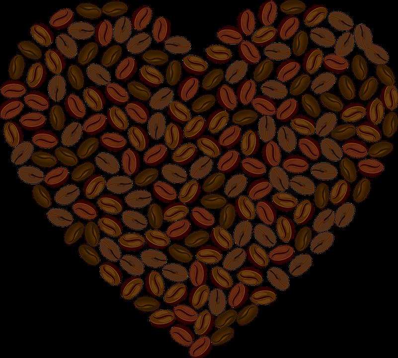 Love, Heart, Romance, Passion, Valentine, Coffee, Bean