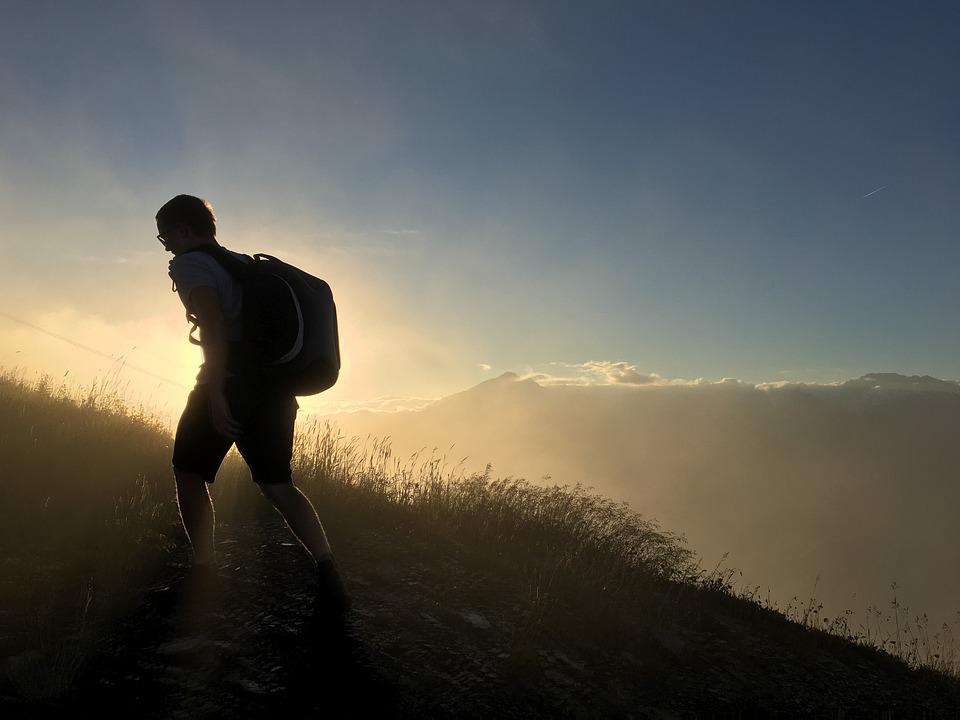 Mountain Silhouette Man - Free photo on Pixabay