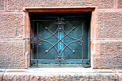 Closed, Locked, Basement, Grid, Cross