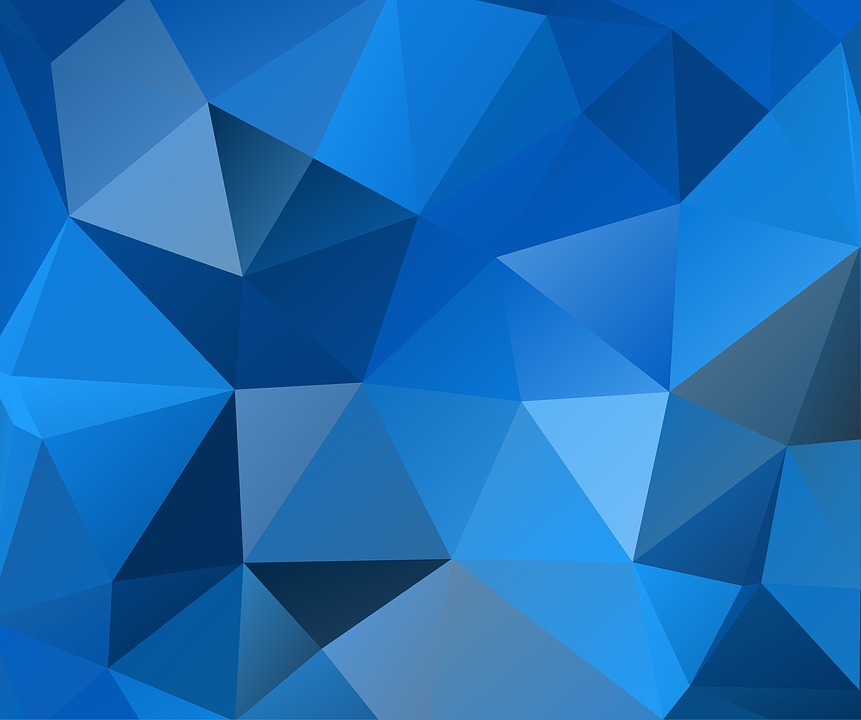 Free Illustration Blue Triangles Polygon Free Image