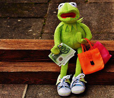 Einkaufen, Shoppen, Shopping, Kermit