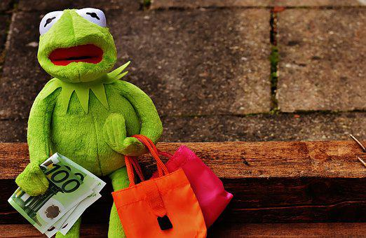 Shopping, Kermit, Money, Euro
