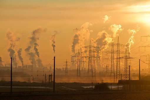 Industry, Pollution, Smog, Sunrise