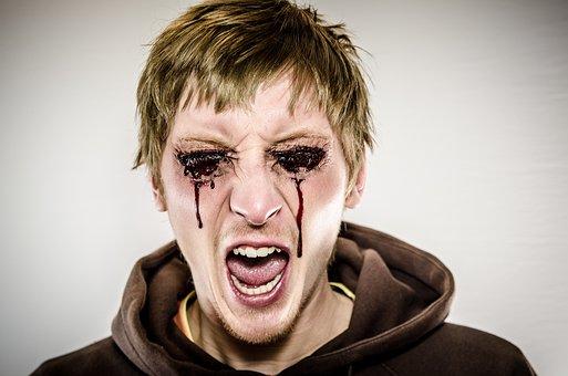 Bleeding Eyes, Dead, Zombie, Make-Up