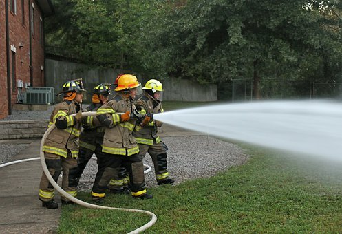 Fire Fighters, Hose Training