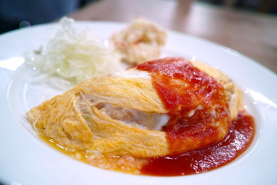 Restaurant, Cuisine, Diet, Food, Omelette Rice