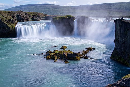 Iceland, Volcanoes, Waterfall, Geyser