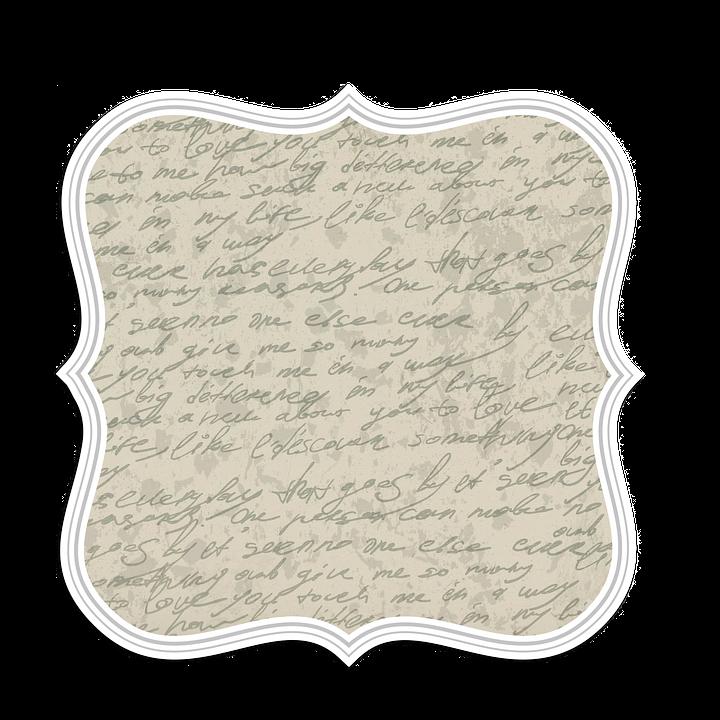 Tag Vintage Label Old Antique Lettering