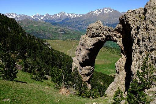 Pyrénées, Lac, Paysage, Montagnes, Arc