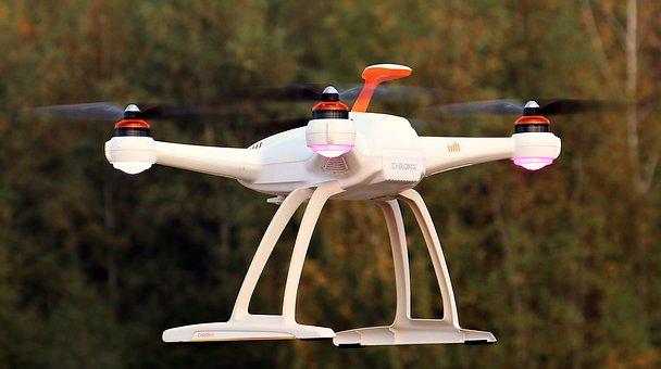Drone, Uav, Ciel, Nuages, Quadrocopter