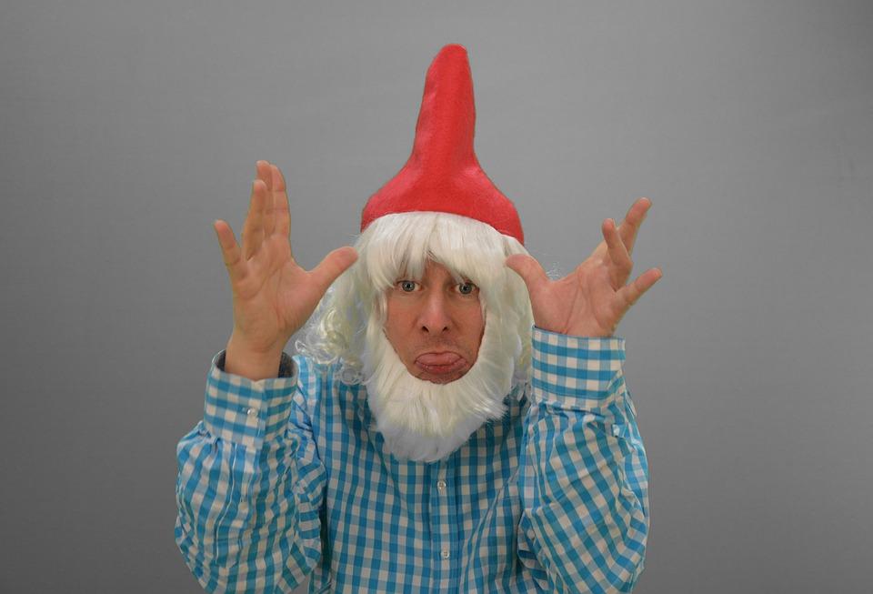 ドワーフ, Gnome, インプ, 小鬼, フン!, 揶揄う, 真剣に取られていません, 皮肉, 風刺