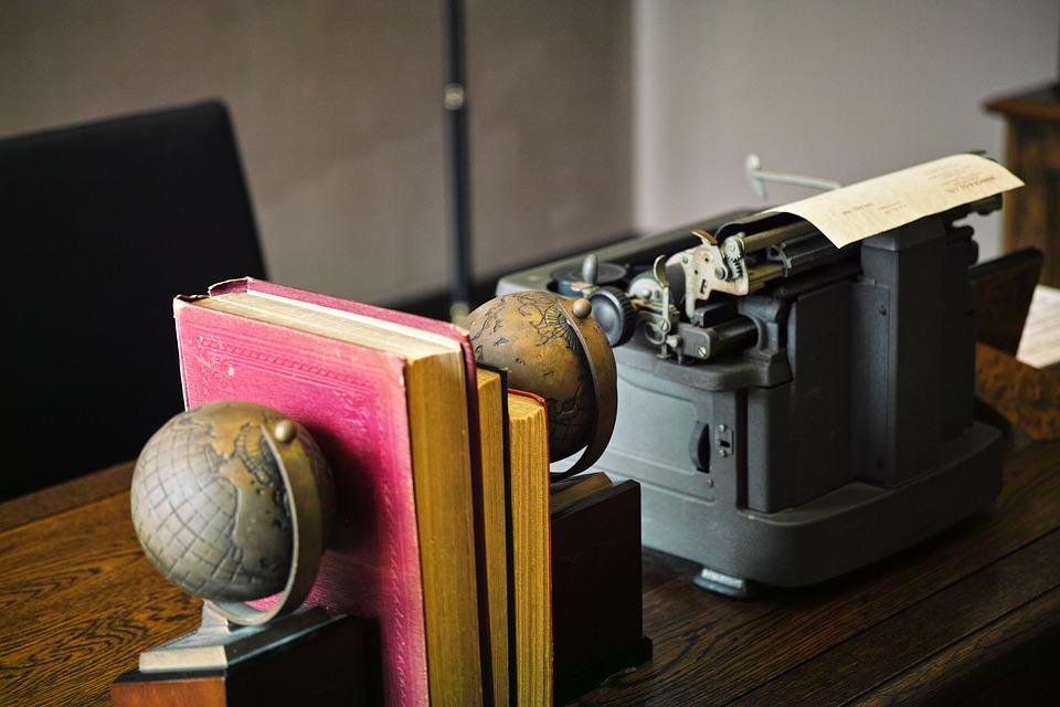 デスク, 書斎, 仕事場, タイプライター, オフィス
