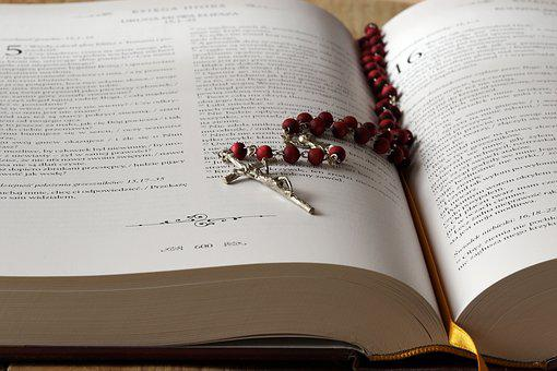 The Rosary, Bible, The Scriptures, Cross