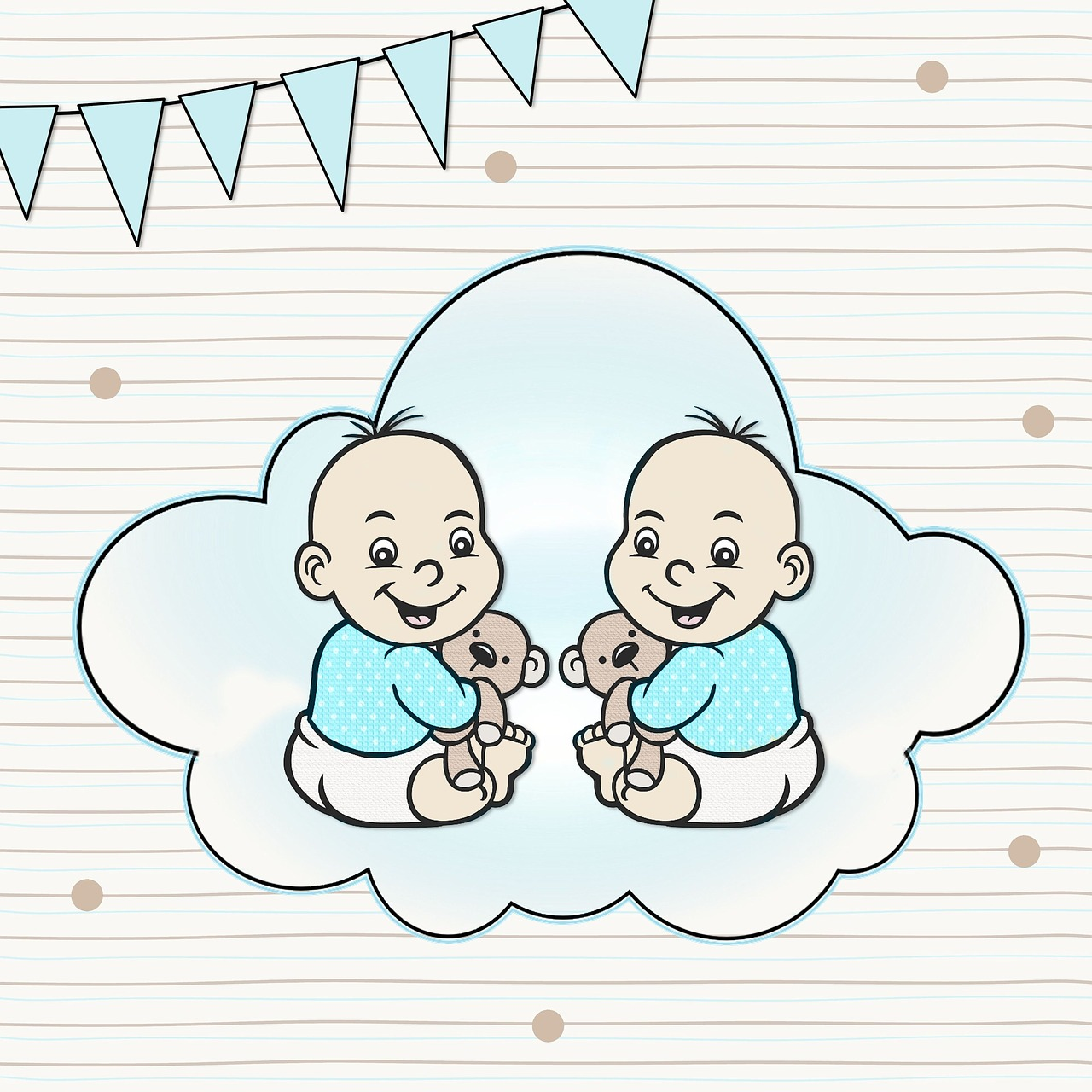 Картинки день рождения близнецов