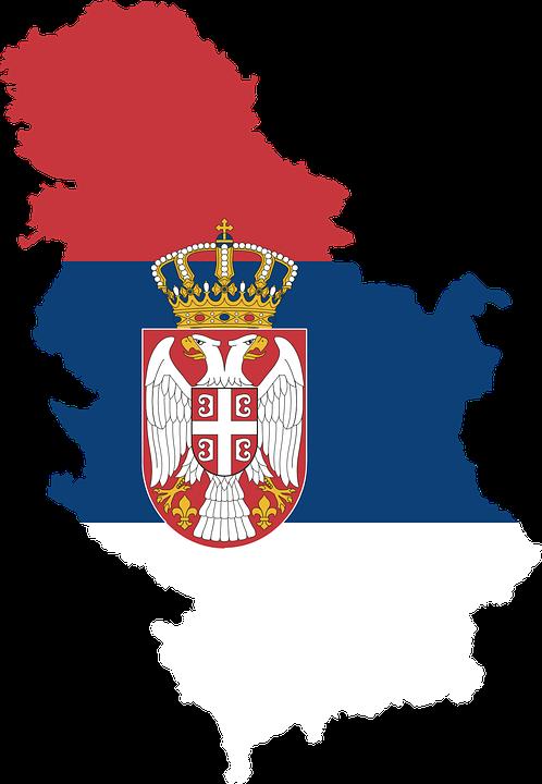 serbie drapeaux des pays