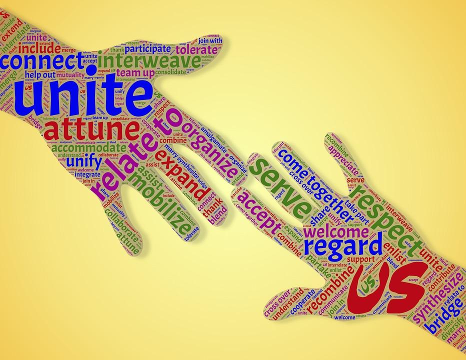 Eenheid, Gemeenschap, Unie, Handen, Reiken, Helpen, Ons