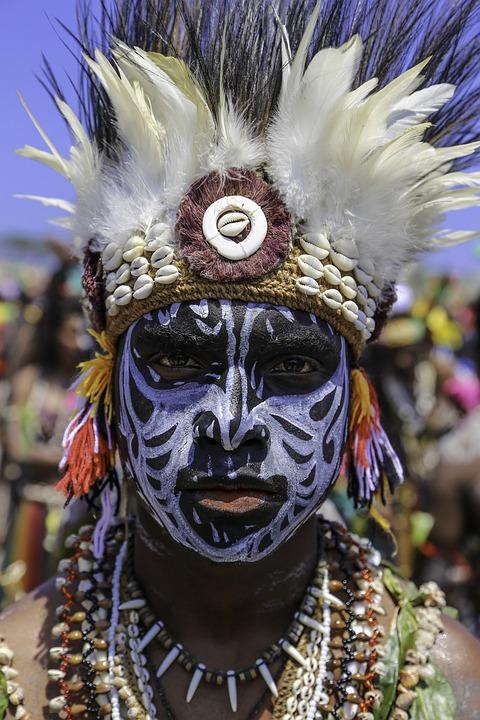 文化, 面漆, 英俊, 戰士, 巴布亞新幾內亞