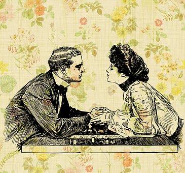 Pareja, Romance, Romántico, Vintage
