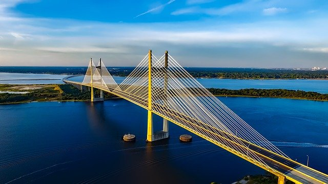 Free photo: Dames Point Bridge Jacksonville Free Image