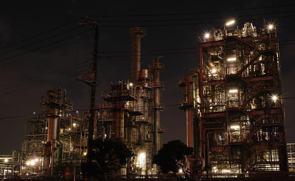 Фабрика, Ночная Точка Зрения, Промышленные, Труба