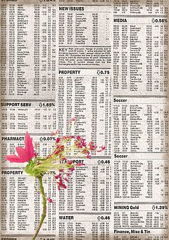 Background, Vintage, Floral, Newspaper