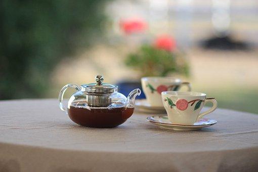 茶, カップ, ホット, ドリンク, ブラック, 朝食, ハーブ, ハーブの