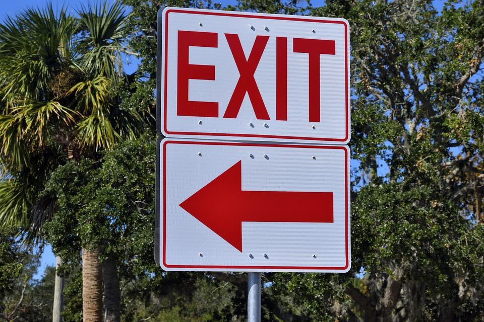 Exit Sign Symbol Free Photo On Pixabay