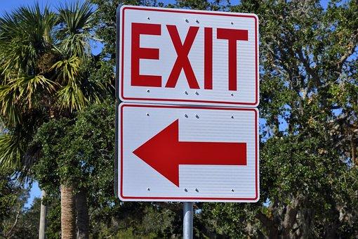 Ausfahrtschild, Anmelden, Symbol, Weiß