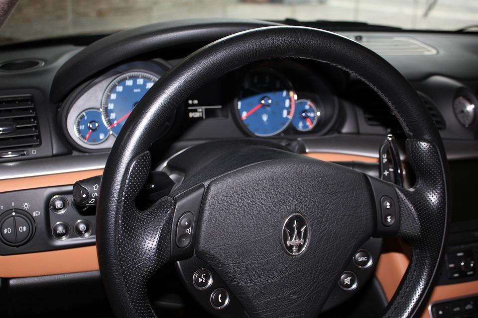 maserati cars auto car interiors steering wheel