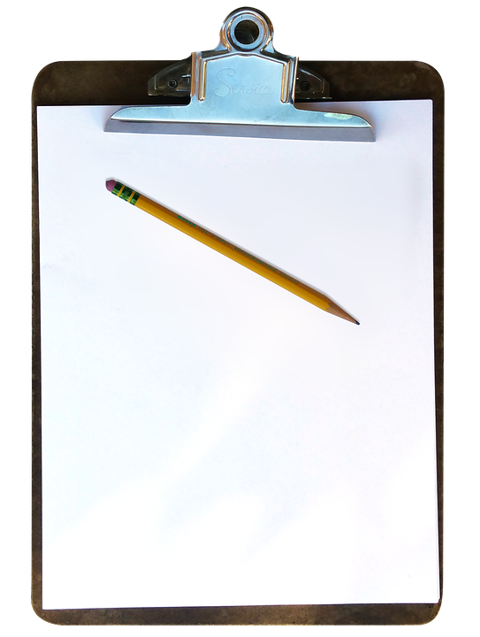 clipboard pencil paper free image on pixabay