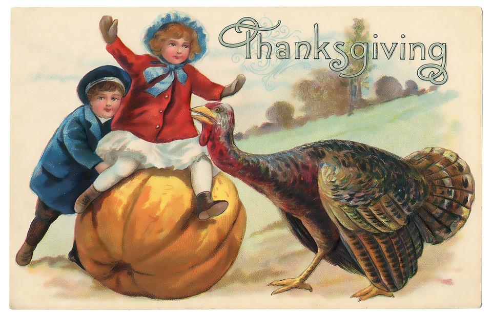 Vintage Thanksgiving Postcard Free Image On Pixabay
