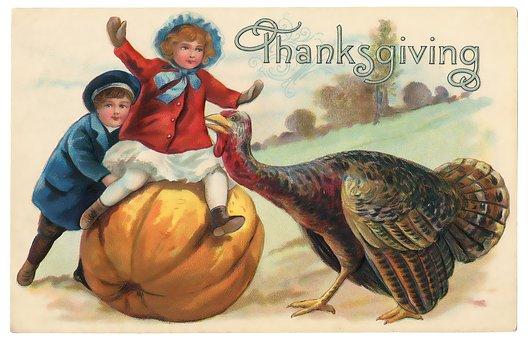 Vintage, Thanksgiving, Postcard